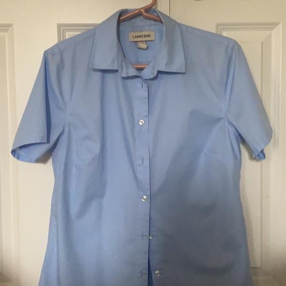 Jr Light Blue Uniform Blouse - Lands End